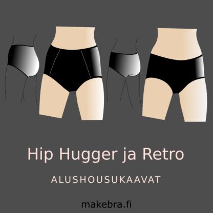 hip hugger ja retro alushousukaavat